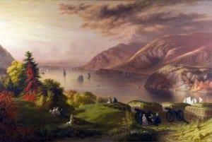 RobertW.Weir'sViewoftheHudsonRiver,1864