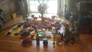 Offerings to deities and ancestors for the pagan group House Sankofa's summer solstice celebration June 21 in Beacon