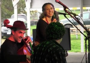 Bethany & Rufus, pictured here at H. G. Fairfield's inaugural Nimham Mountain Music Festival, May 11, 2013.