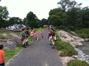 War of the Revolution honor guard greets visitors to Constitution Island. (Photo by Kevin E. Foley)