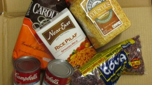 Non-perishable food items are needed at the Food Pantry.