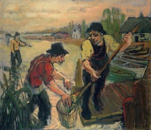 """Crabbing,"" Highland Studio's print reproduction of a painting by Robert H. Diebboll Image courtesy of The Highland Studio"