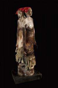 """OneisOlder""ceramicsculpturebyJudySigunick. PhotobyFlynnLarsen"