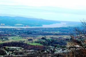 Currently accessible via a steep path, the top of Mount Beacon offers a wide view of the Hudson Valley. Photo by L.S. Armstrong