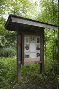 A brief history of Benedict Arnold is positioned along the trail.