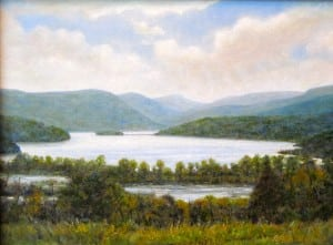 """Boscobel View"" by Rick Gedney. Gedney's paintings are available at RiverWinds Gallery in Beacon. Image courtesy of the artist"