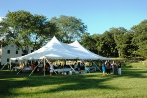 On the lawn by the historic Warner house, the Constitution Island Association held a picnic dinner last year. Photo by L.S. Armstrong