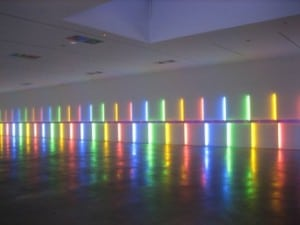 A 1996 installation by Dan Flavin in Houston