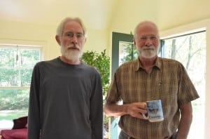 Alan Vardy and Tom Whyatt gather with the Friends' worship group in Philipstown.