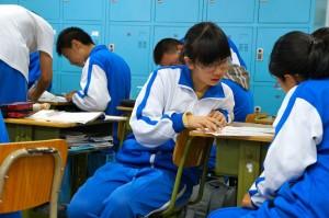 UniformsarestandardinChineseschools.Highschoolclasseshave49students. (PhotocourtesyofJenniferWilson)