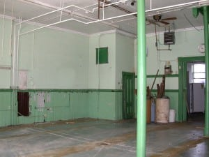 The front room of the firehouse in 2003.