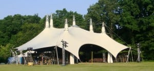 The theater tent at Boscobel