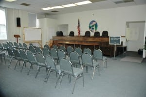 The Philipstown board meeting room doubles as a courtroom for the town justice court. Photo by L.S. Armstrong