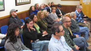 "A near-capacity crowd turned out for the public hearing on a law to ban ""formula businesses"" in Cold Spring. (Photo by M. Turton)"