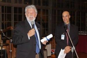 HaldaneDistrictSuperintendentMarkVillanti and HSF vice president Craig Roffman