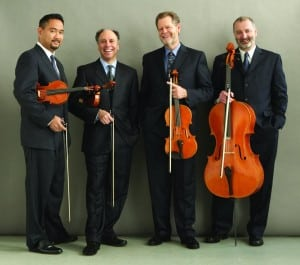 Fromleft,ZakariasGrafilo,violin;FrederickLifsitz,violin;PaulYarbrough,viola;SandyWilson,cello (photocourtesyofArtsontheLake)