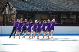 Members of the Bear Mountain Figure Skating Club performing in their annual skate show.