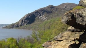 A view of Breakneck Ridge from the cliffs at Little Stony Point (file photo by M. Turton)