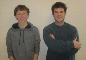 NolanShea,left,andAidanGallagher,OurTown's'StageManagers' (PhotobyA.Rooney)