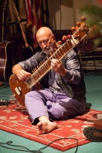 John Dube, pictured with his sitar. ( Image courtesy of John Dube)
