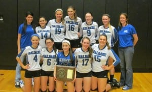 The girls' volleyball team won their 11th straight Class D Section 1 Championship.