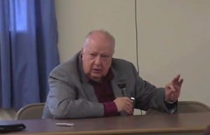 Roger Ailes speaks about a proposed senior center.