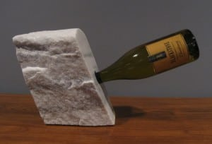 Bob Madden has rendered a series of marble wine caddies.