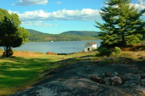 A view of the Hudson from the lawn of the Warner House on Constitution Island (photo by L.S. Armstrong)
