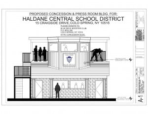 Design for the proposed concession stand (Image courtesy of Roger Hoffman)