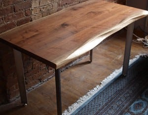A walnut desk by Jessica Wickham (Photo courtesy of the artist)