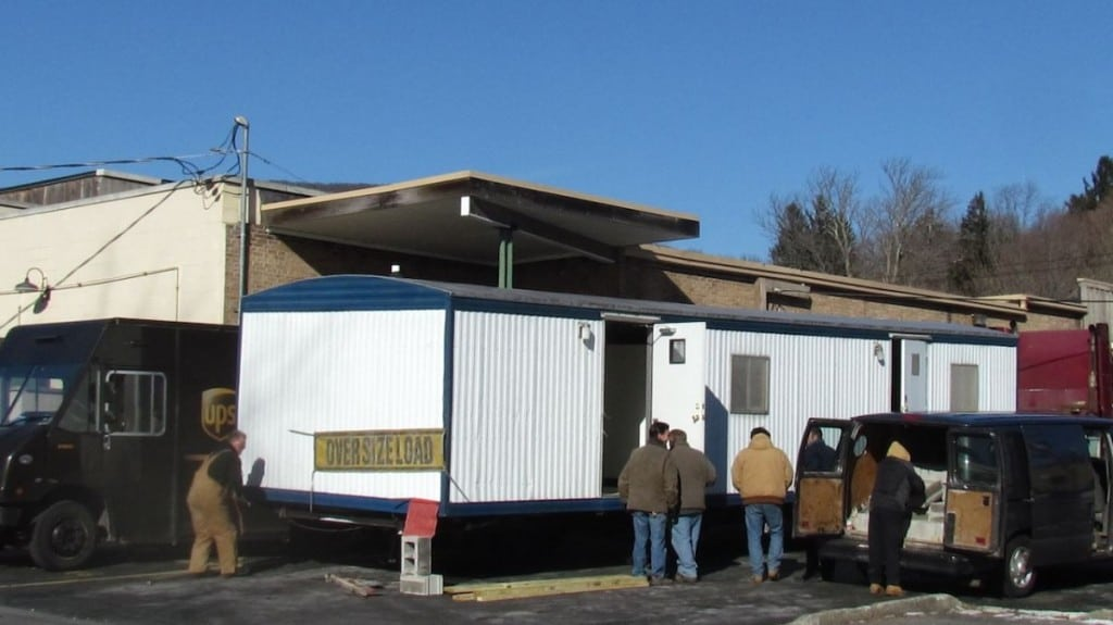 The post office trailer (file photo)