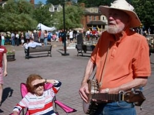 Pete Seeger performs at Cold Spring's waterfront in 2009. Photo by Maggie Benmour
