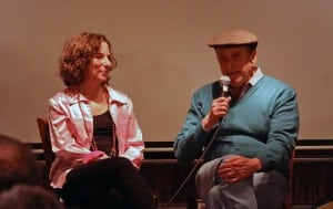 "Cindy Kleine and husband, Andre Gregory, at a Beacon Film Society screening of Kleine's documentary, ""Before and After Dinner"" (Photo by David Majzlin)"