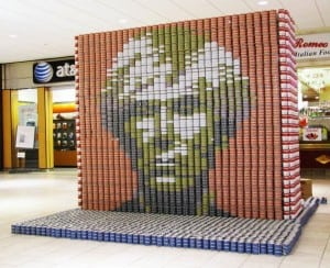 An example of Canstruction.