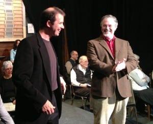 SterlingSwann,left,andMikeMcKeeinrehearsalfor1776.