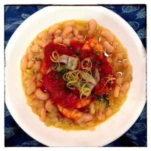 Catalan White Beans & Shrimp
