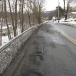 Potholes along Fishkill Road in Nelsonville  Photo by Kevin E. Foley