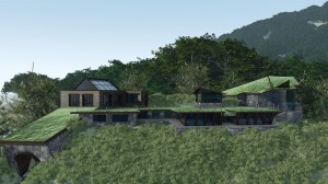 Architectural rendering of the Excelsior center, planned for Mount Beacon's summit. (Photo courtesy of LAN Associates)