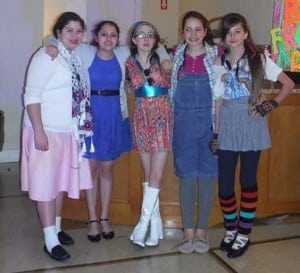 Local Girl Scouts Tatiana, Amy, Jamie, Morgan and Grace danced through the decades Feb. 1. (Photo courtesy of Deirdre Knapp)