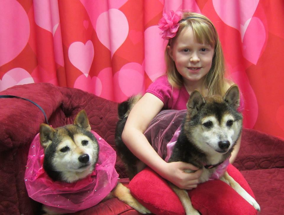 Roxy, Bella and friend