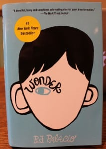 """Wonder"" by R.J. Palacio, to be discussed by all at Haldane Community Read  (Photo by A. Rooney)"