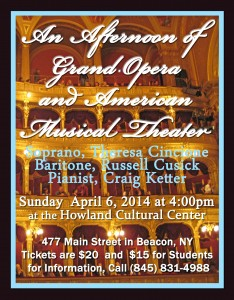 poster opera house for howland april 6 concert