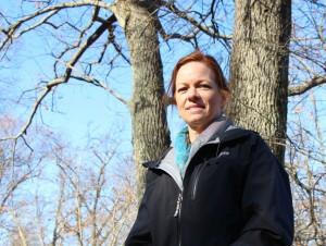 Lori Moss outside at Manitoga