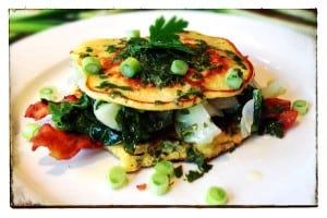 Spring onion pancakes (Photo by J. Dizney)