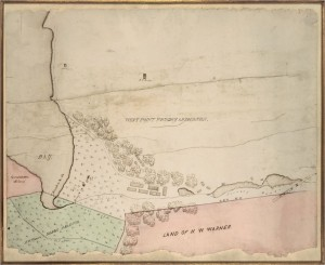 Undated map illustrating the area around Constitution Island and West Point (Foundry Image courtesy of Bryan Dunlap)