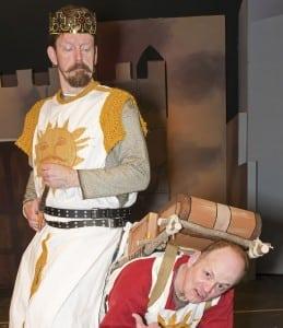 DavidJ.Ringwood(KingArthur)andMichaelBritt(Patsy)