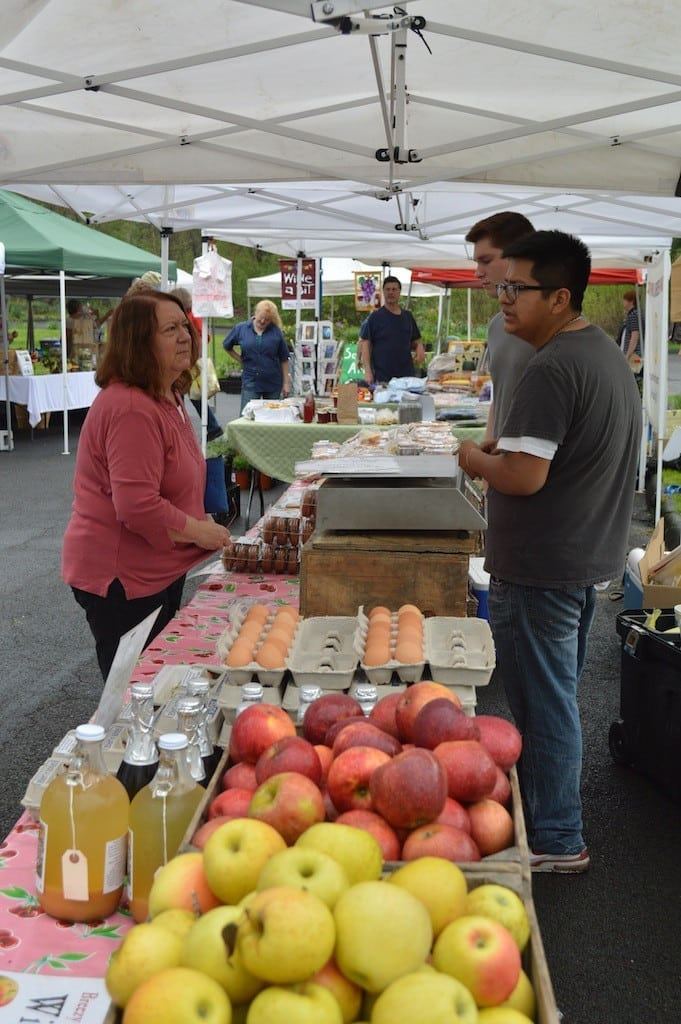 CS Farmer's Market Moves Outdoors May 2014 – eggs