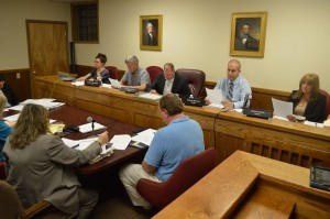 "The Cold Spring Village Board approved the B4A zoning for Butterfield by a 4 -1 vote. Trustee Stephanie Hawkins, far left, cast the lone ""No"" vote. (Photo by M. Turton)"