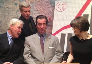 "The main members of the ""Gasping"" cast:  from left, George Kimmel, Joe Dunn, Donald Kimmel and Jean Garner."