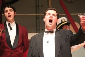 "Haldane Senior Tyler Mell performs in the recent production of ""Anything Goes."""